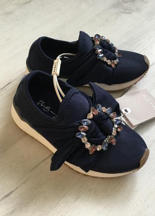 Сникерсы кроссовки zara для девочки 26р, кросівки снікерси з бантом на дівчинку 26р