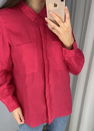 Льняная рубашка  m&s