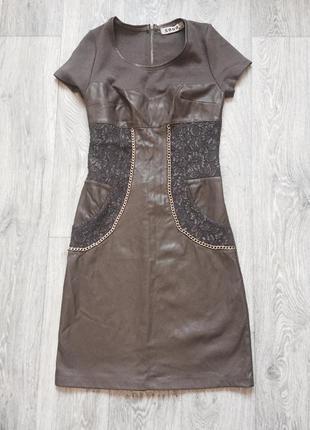 Платье кожаное фирменное
