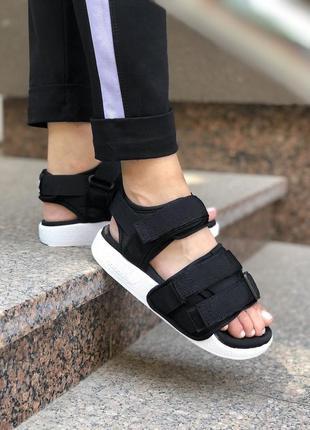 Женские босоножки adidas adilette sandal  black ✰ черого цвета ✰ сандали 😻