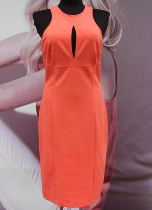 Красивое персиковое платье с открытой спиной h&m