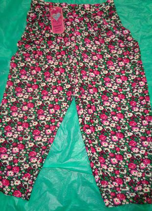 Летние легенькие капри 44-50р с карманами 12 расцветок