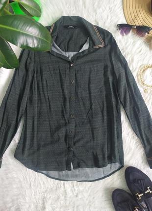 Стильная легкая рубашка с вискозы