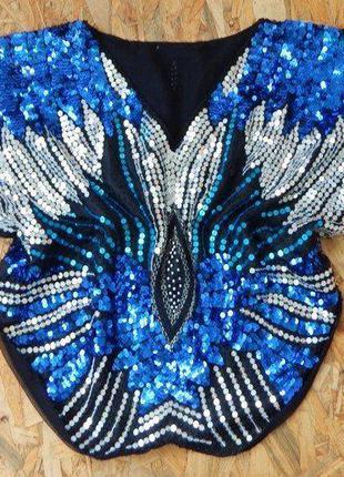 Блуза, блузка, р-р m-l, клубная вечерняя кофта