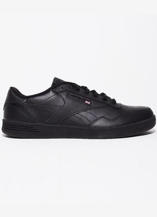 Кожаные кроссовки/кеды reebok club memt, оригинал, черные