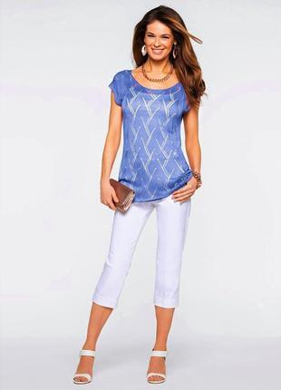 Блузка ажурная вязаная трикотажная летняя майка туника
