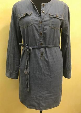 Джинсовое платье/рубашка/туника calzedonia