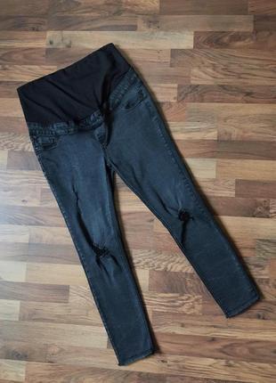 Темно-серые джинсы для беременных