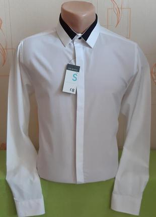 Элегантная белая рубашка primark slim fit, made in bangladesh с биркой