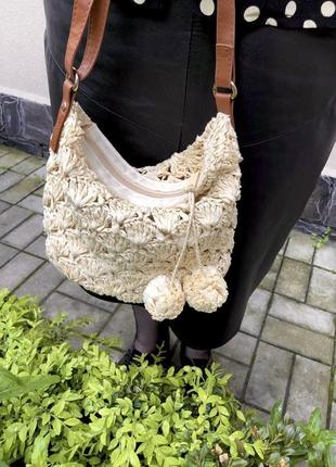 Летняя плетеная сумочка через плече f&f