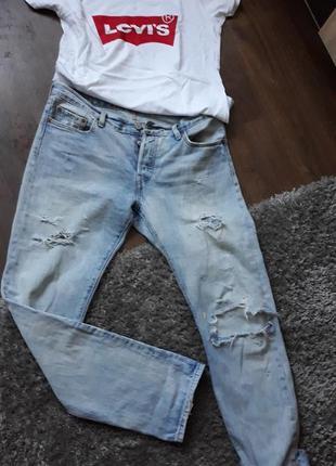 Летние рваные джинсы левайс оригинал
