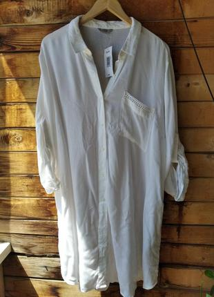 Шиуарная натуральная рубашка большой размер