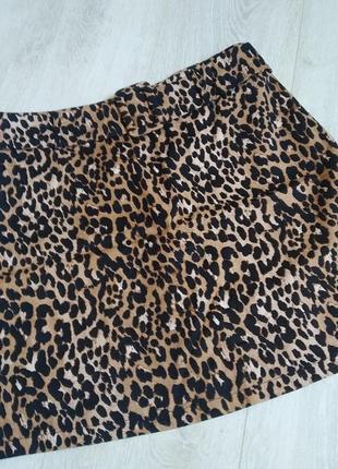 Юбка, мини юбка, леопардовая юбка, анималистический принт