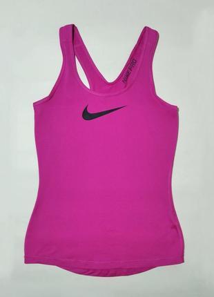 Nike pro dri-fit оригинал, размер s, спортивная майкая, кофта, футболка для бега, фитнеса