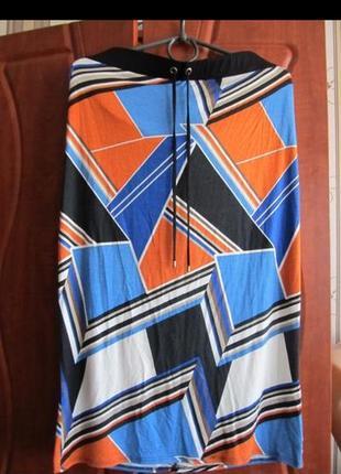 Летняя натуральная юбка на резинке