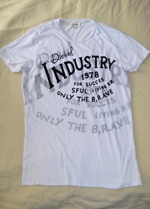 Diesel хлопковая футболка легкая