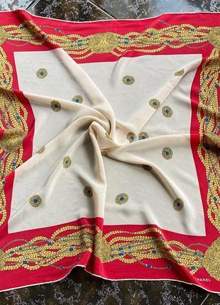 Шёлковый платок ,шовковий платок chanel оригинал