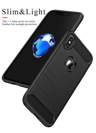 Черный силиконовый чехол чохол термополиуретан tpu для apple iphone айфон x/xs 10/10s1 фото