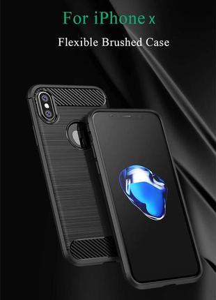 Черный силиконовый чехол чохол термополиуретан tpu для apple iphone айфон x/xs 10/10s3 фото