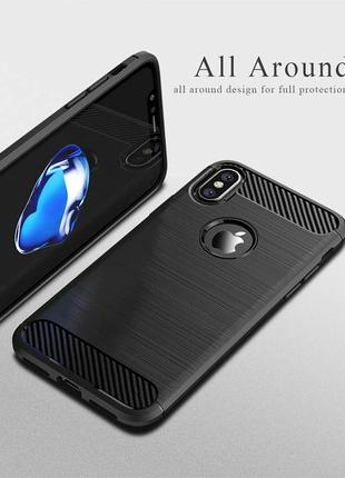 Черный силиконовый чехол чохол термополиуретан tpu для apple iphone айфон x/xs 10/10s4 фото