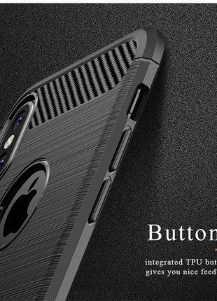Черный силиконовый чехол чохол термополиуретан tpu для apple iphone айфон x/xs 10/10s6 фото