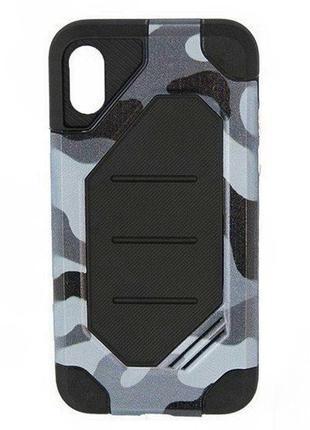 Черный и серый камуфляжный чехол-накладка чохол для apple iphone айфон x/xs 10/10s