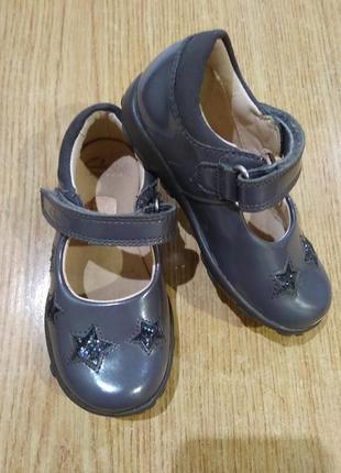 Нарядные туфельки clarks с мигалками туфли