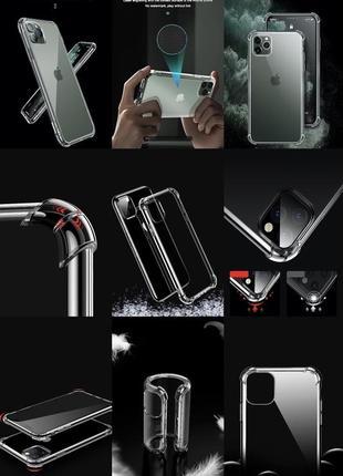 Прозрачный противоударный защитный чехол чохол tpu для apple iphone айфон 11/pro/pro max1 фото