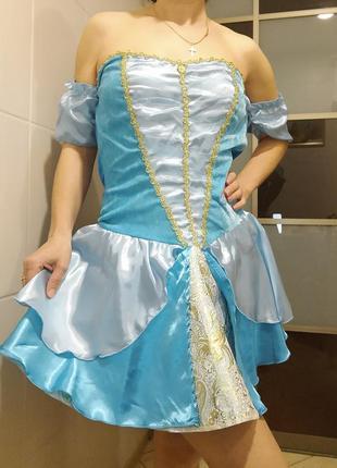 Карнавальное платье костюм взрослый золушка, принцесса, мальвина м-л