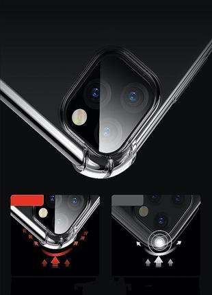 Прозрачный противоударный защитный чехол чохол tpu для apple iphone айфон 11/pro/pro max8 фото