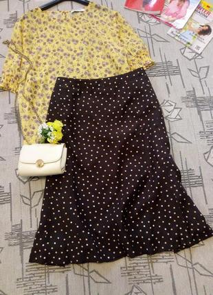 Элегантная юбка в горошек, amy vermont ,размер 16-18