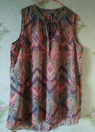 Лёгкая летняя шифоновая блузка # яркая блуза # блузка большого размера # tu