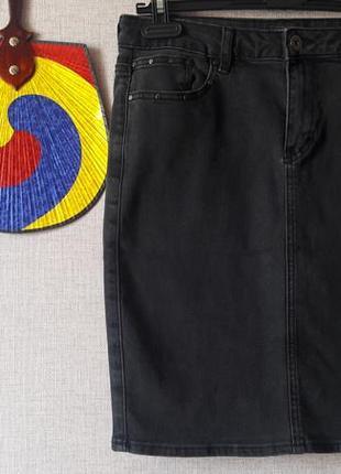 Юбка джинсовая) поб 44-48