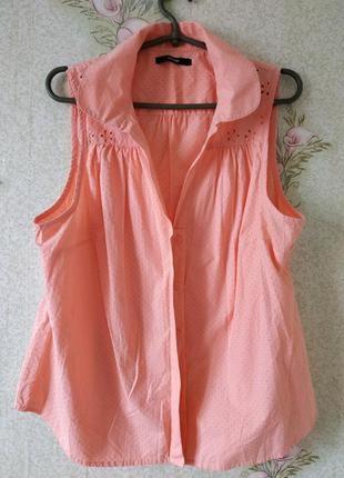 Летняя блузка# лёгкая блуза # рубашка из натуральной ткани # george