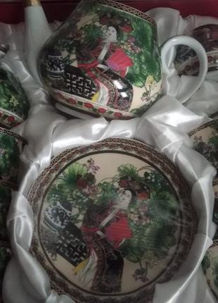 Чайный сервиз китаянки на 15 предметов