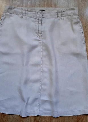 Льняная юбка h&m, р.40