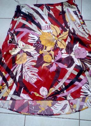 #акция 1+1=3 ! #mexx#шелковая юбка в ярких цветах #расклешенная юбка   #