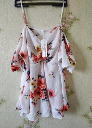 Летняя лёгкая блузка # блузка большого размера # новая блуза # rose gar