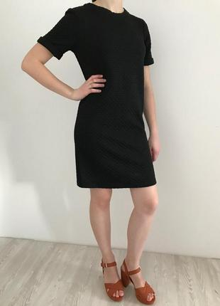 Платье чёрное warehouse маленькие милое летние легкое стильное базовое