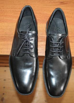 Ecco illinois оригинал кожаные туфли дерби