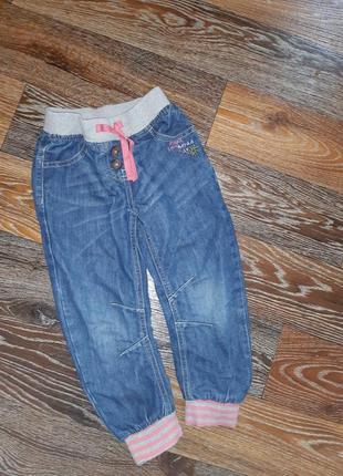 Стильные джинсы джоггеры next 5 лет