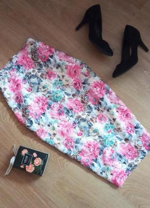 Бесподобная юбка в цветы размер 16