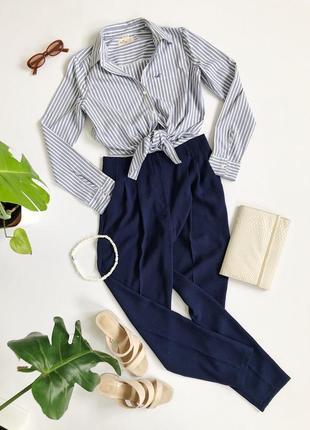 Базовая рубашка в голубую полоску