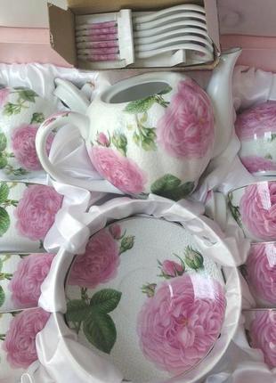 Чайный сервиз роза на 15 предметов