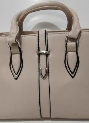 Женская небольшая сумка (бежевая) 20-06-006