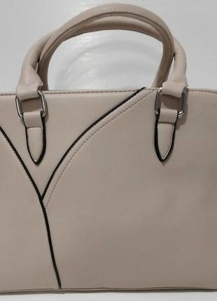 Женская небольшая сумка (бежевая) 20-06-008