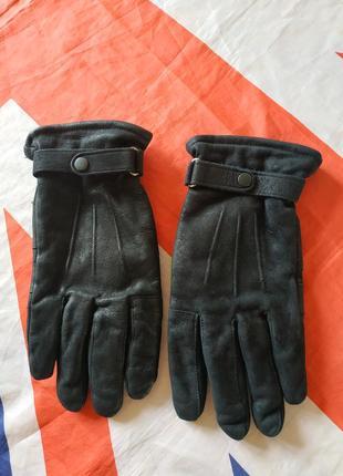 Barbour перчатки кожаные