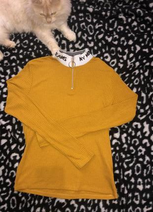 Жёлтая кофта jennyfer