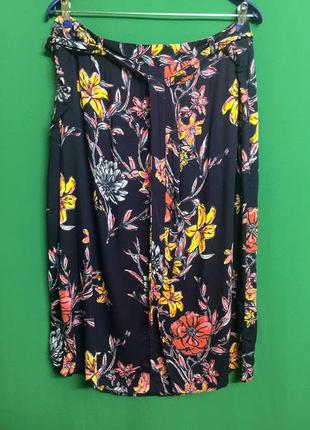 Летняя креативная тонкая вискозная юбка 2 в 1 george