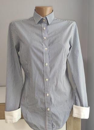 Актуальная рубашка в полоску от zara